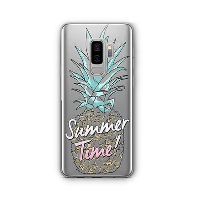 Teal Summertime Pineapple - Samsung Clear Case