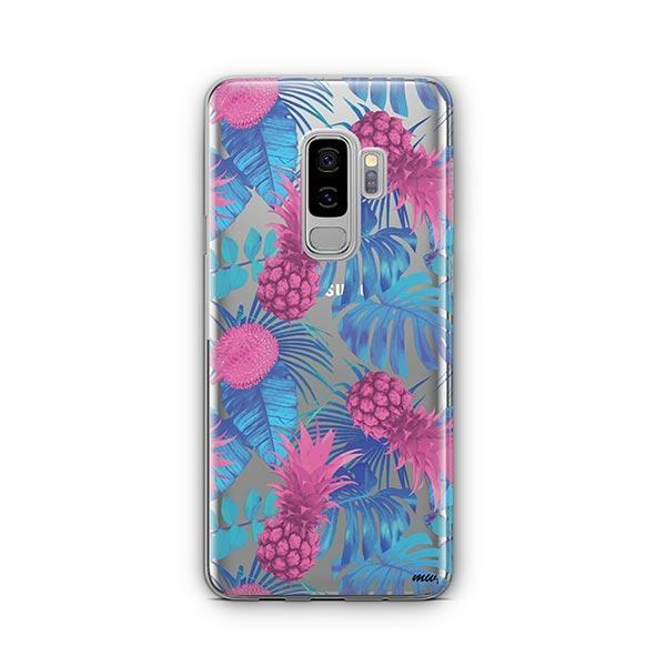 Purple Summertime Pineapple - Samsung Galaxy S9 Plus Case Clear