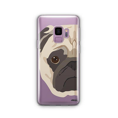 The Pug Case - Samsung Clear Case