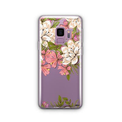 Angela Floral - Samsung Clear Case