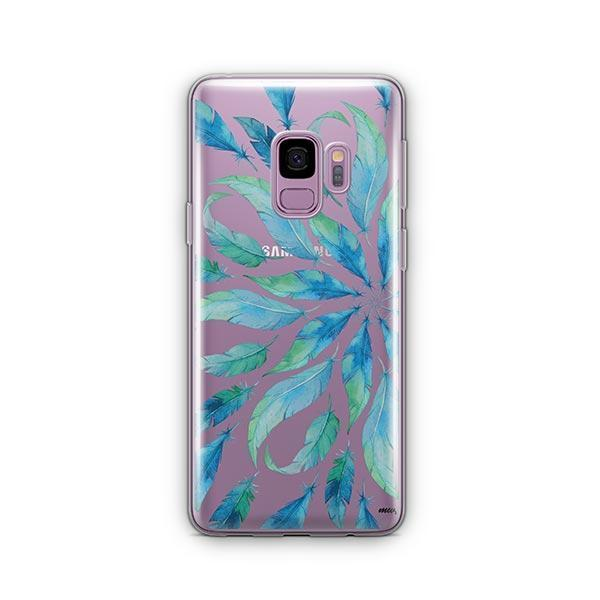 Burst of Feathers - Samsung Galaxy S9 Case Clear