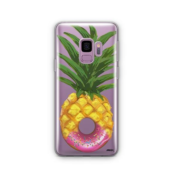 Donut Pineapple - Samsung Galaxy S9 Case Clear