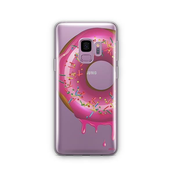 Dripping Donut - Samsung Galaxy S9 Case Clear