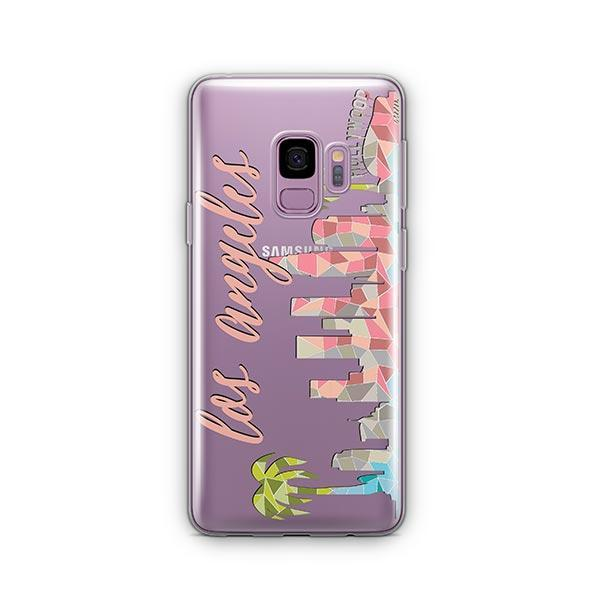 Geometric Los Angeles - Samsung Galaxy S9 Case Clear