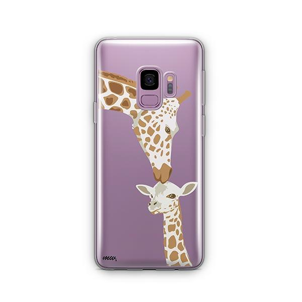 Giraffe Love -  Samsung Galaxy S9 Case Clear