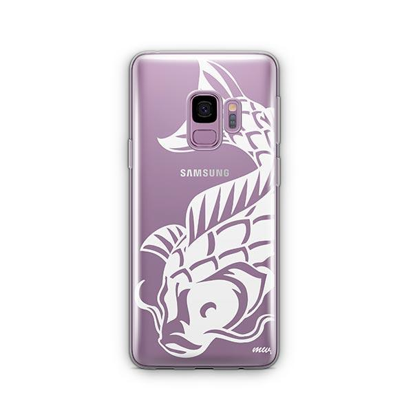 Henna Koi Fish -  Samsung Galaxy S9 Case Clear