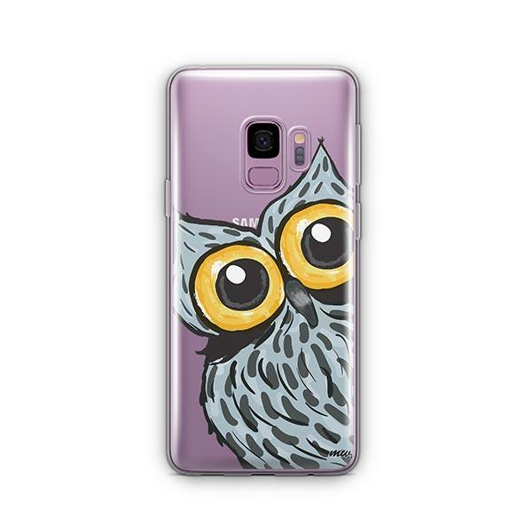 Peeking Owl -  Samsung Galaxy S9 Case Clear