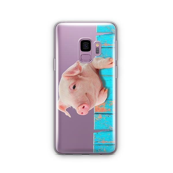 Pig on a Fence -  Samsung Galaxy S9 Case Clear