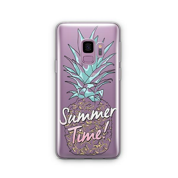 Teal Summertime Pineapple - Samsung Galaxy S9 Case Clear