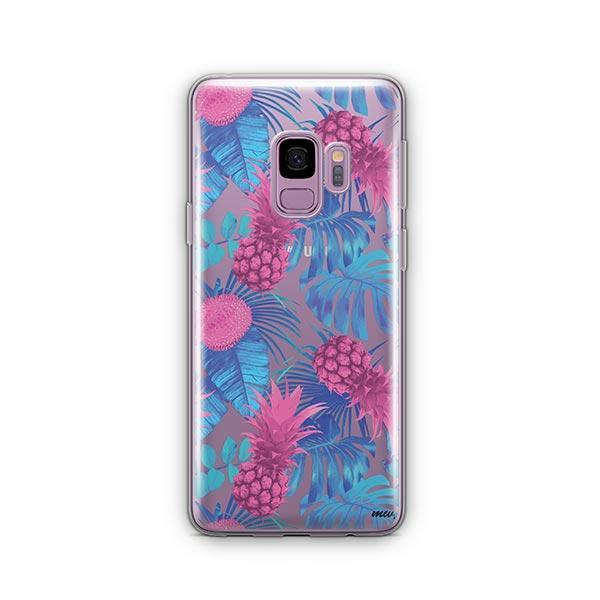 Purple Summertime Pineapple - Samsung Galaxy S9 Case Clear