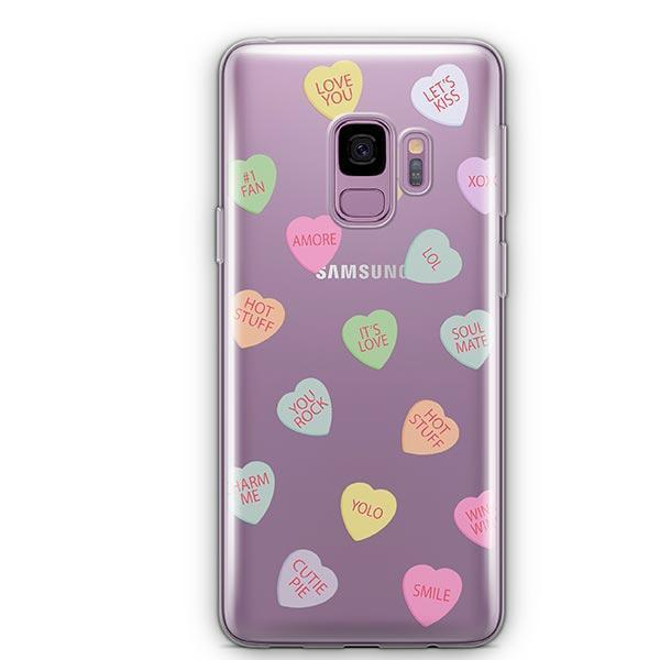Valentines Candy - Samsung Galaxy S9 Case Clear