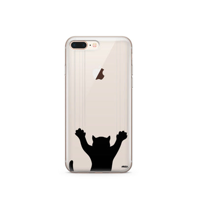 Scratchy Cat - Clear Case Cover - Milkyway Cases -  iPhone - Samsung - Clear Cut Silicone Phone Case Cover