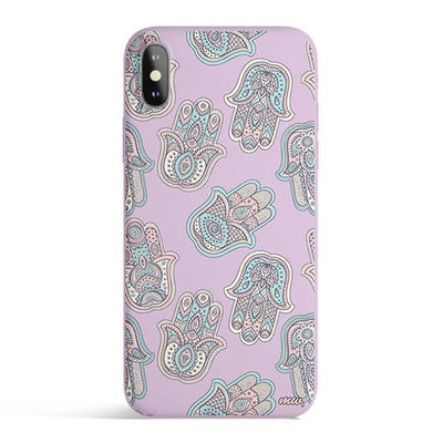 Seamless Hamsa- Colored Candy Cases Matte TPU iPhone Cover