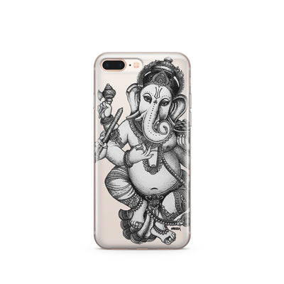Sketch Ganesh - Clear TPU Case Cover - Milkyway Cases -  iPhone - Samsung - Clear Cut Silicone Phone Case Cover