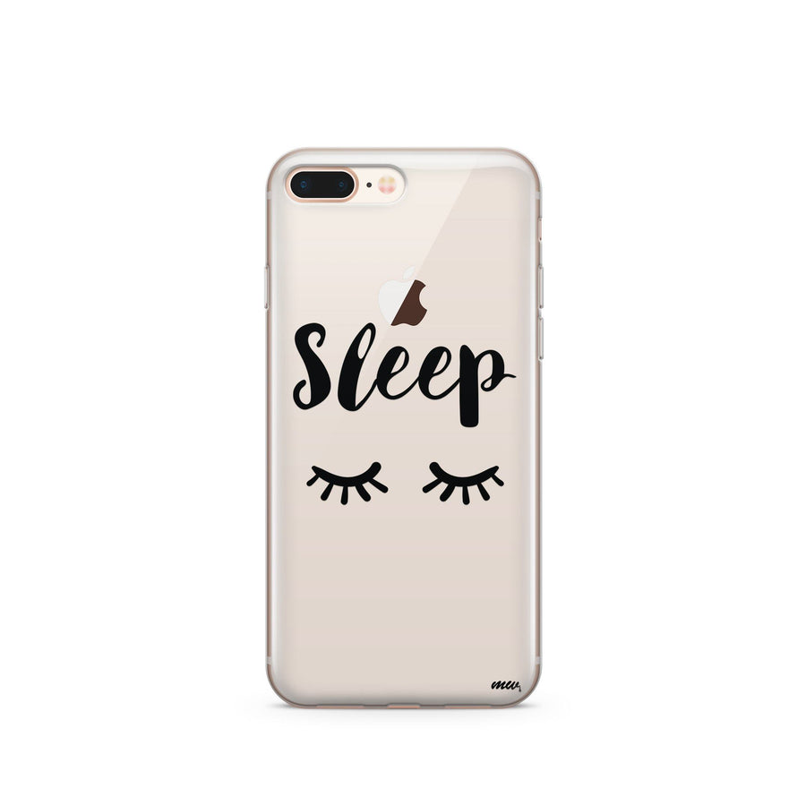 Sleep - Clear TPU Case Cover - Milkyway Cases -  iPhone - Samsung - Clear Cut Silicone Phone Case Cover