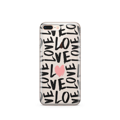 Spread The Love - Clear Case Cover - Milkyway Cases -  iPhone - Samsung - Clear Cut Silicone Phone Case Cover