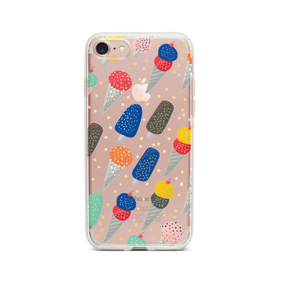 Sprinkles Ice Cream - Clear TPU Case Cover