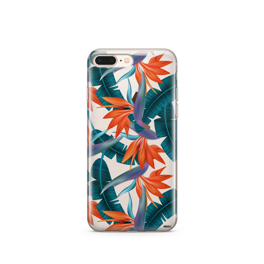 Strelitzia - Clear Case Cover - Milkyway Cases -  iPhone - Samsung - Clear Cut Silicone Phone Case Cover
