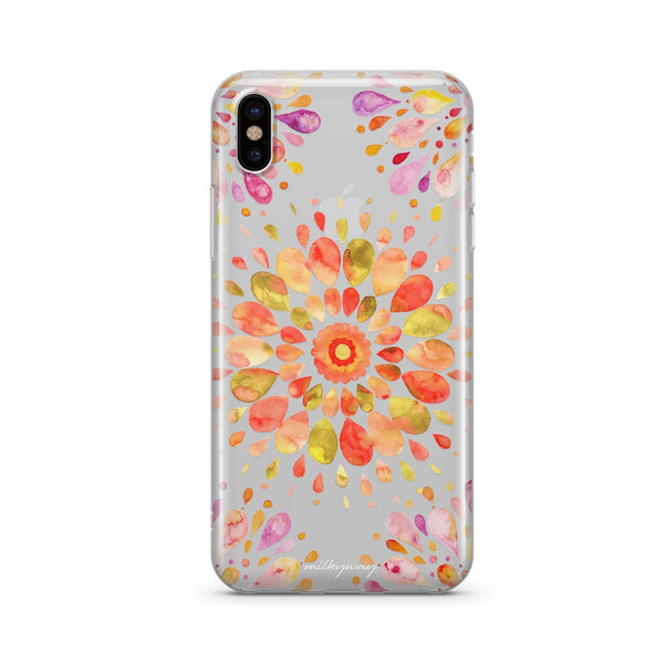 Summer Mandala - Clear TPU Case Cover
