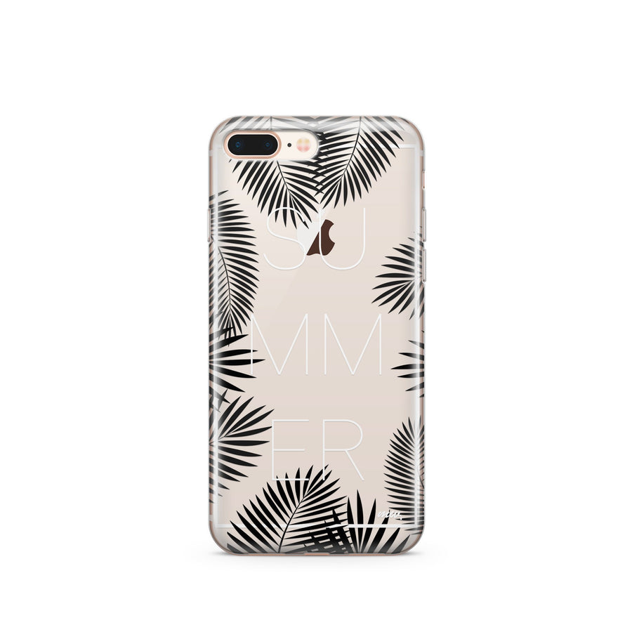 Summer Leaves - Clear Case Cover - Milkyway Cases -  iPhone - Samsung - Clear Cut Silicone Phone Case Cover