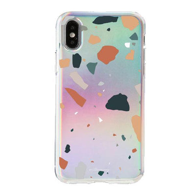 Holographic iPhone Case Cover - Terrazo