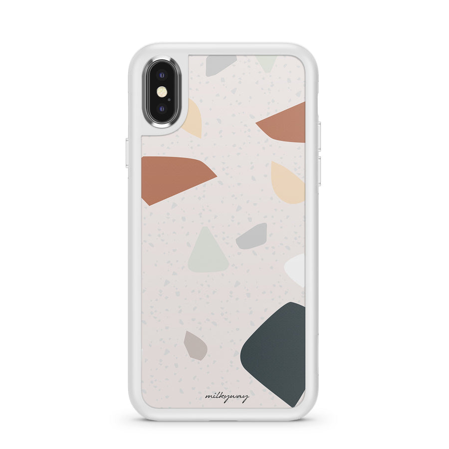 Terrazzo Abstract - Slate Case Milkyway iPhone Samsung Clear Cute Silicone 8 Plus 7 X Cover