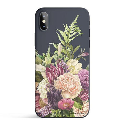 The Bouquet - Colored Candy Cases Matte TPU iPhone Cover Milkyway iPhone Samsung Clear Cute Silicone 8 Plus 7 X Cover