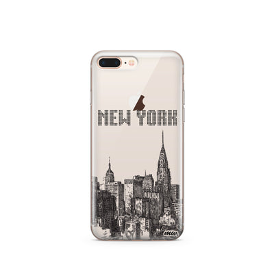 The Big Apple NYC New York - Clear TPU Case Cover - Milkyway Cases -  iPhone - Samsung - Clear Cut Silicone Phone Case Cover