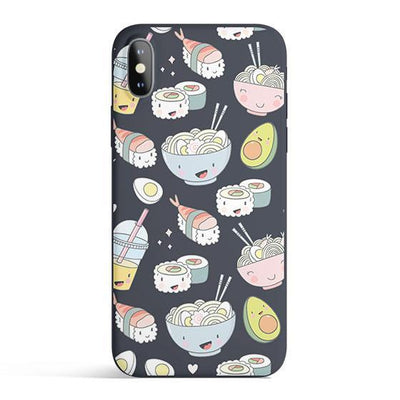 Tokyo Foodie - Colored Candy Cases Matte TPU iPhone Cover Milkyway iPhone Samsung Clear Cute Silicone 8 Plus 7 X Cover