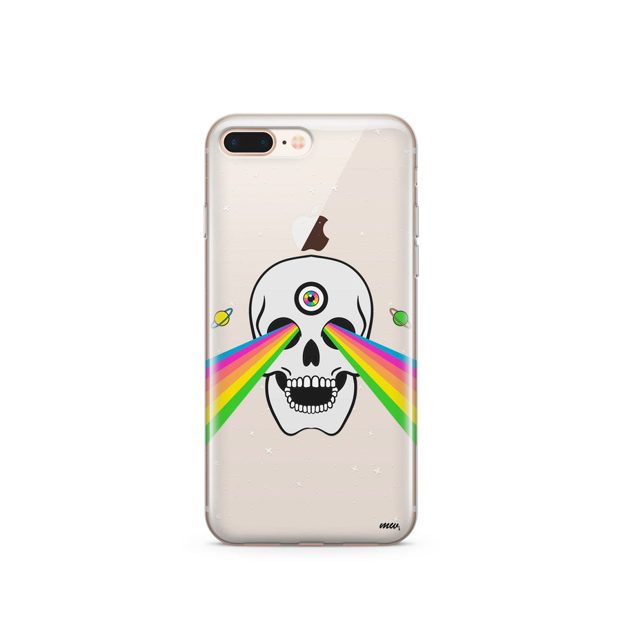 Trippy Skull - Clear TPU Case Cover - Milkyway Cases -  iPhone - Samsung - Clear Cut Silicone Phone Case Cover