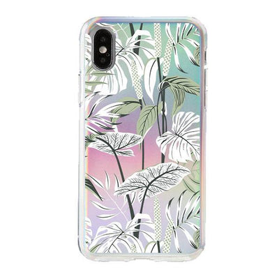 Holographic iPhone Case Cover - Tropcial Mint