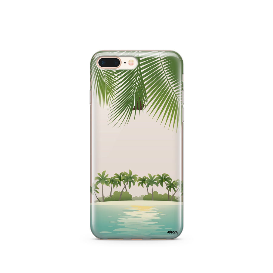 Tropical Beach - Clear TPU Case Cover - Milkyway Cases -  iPhone - Samsung - Clear Cut Silicone Phone Case Cover