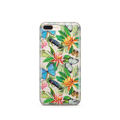 Tropical Butterfly - Clear TPU Case Cover - Milkyway Cases -  iPhone - Samsung - Clear Cut Silicone Phone Case Cover