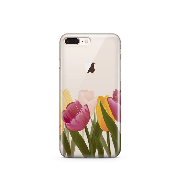Tulips - Clear TPU Case Cover - Milkyway Cases -  iPhone - Samsung - Clear Cut Silicone Phone Case Cover