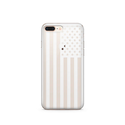 USA Flag - Clear TPU Case Cover - Milkyway Cases -  iPhone - Samsung - Clear Cut Silicone Phone Case Cover