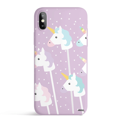 Unicorn Pops - Colored Candy Cases Matte TPU iPhone Cover