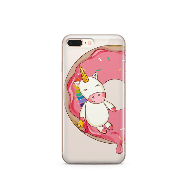 Unicorn Sprinkles - Clear Case Cover - Milkyway Cases -  iPhone - Samsung - Clear Cut Silicone Phone Case Cover