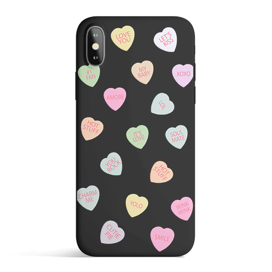 Valentines - Colored Candy Cases Matte TPU iPhone Cover
