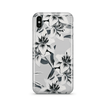Watercolor Lilies Clear TPU Case - Clear Cut Silicone iPhone Cover - Milkyway Cases