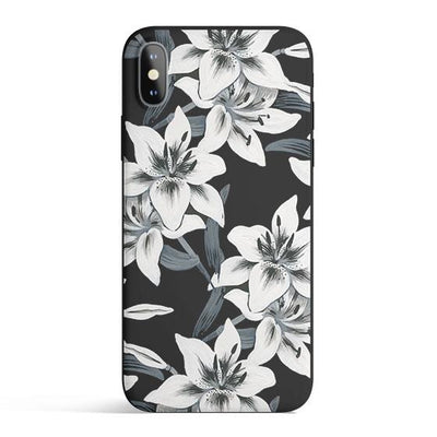 Watercolor Lilies Colored Candy Matte TPU Case - Clear Cut Silicone Phone Cover - Milkyway Cases