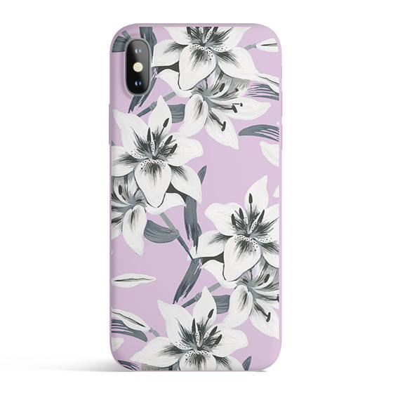 Watercolor Lilies - Matte TPU - iPhone Case