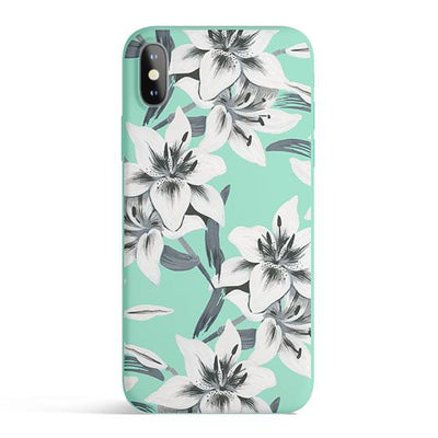 Watercolor Lilies - Colored Candy Cases Matte TPU iPhone Cover