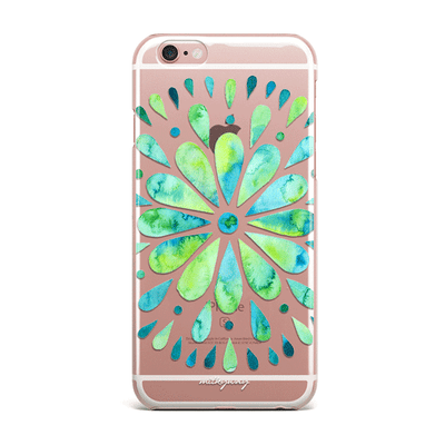 Watercolor Mandala - Clear TPU Case Cover Milkyway iPhone Samsung Clear Cute Silicone 8 Plus 7 X Cover