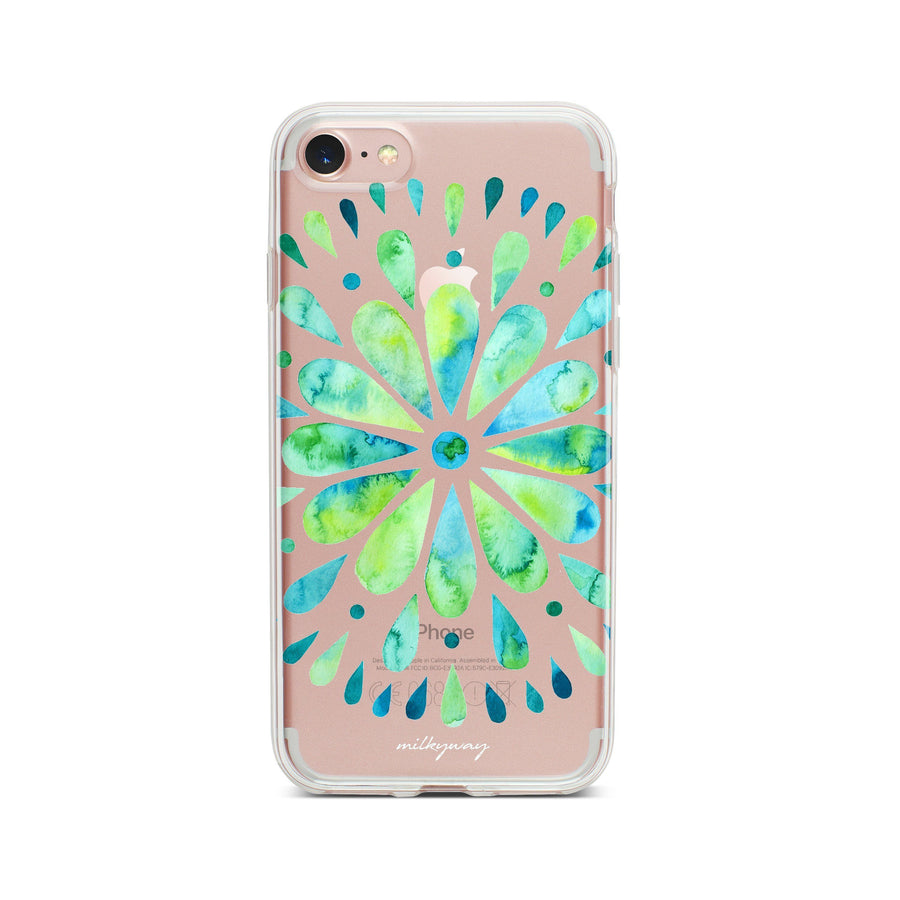 Watercolor Mandala - Clear TPU Case Cover
