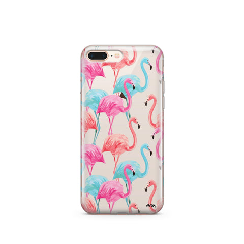 Watercolor Flamingo - Clear TPU Case Cover