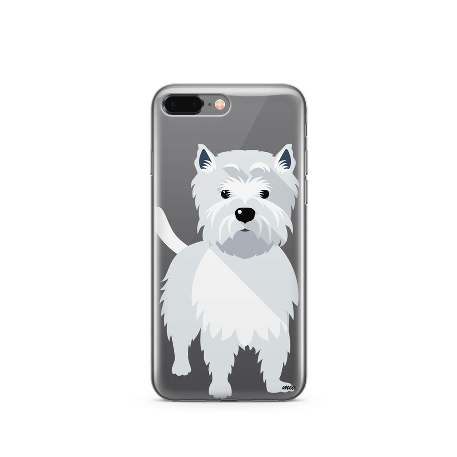 Westie - Clear TPU Case Cover - Milkyway Cases -  iPhone - Samsung - Clear Cut Silicone Phone Case Cover