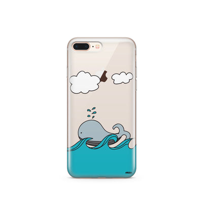 The Whale Case - Clear TPU Case Cover - Milkyway Cases -  iPhone - Samsung - Clear Cut Silicone Phone Case Cover