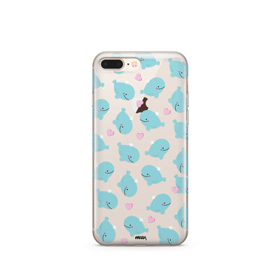 Whale Tale (@milkywaycases x @okitssteph) - Clear Case Cover - Milkyway Cases -  iPhone - Samsung - Clear Cut Silicone Phone Case Cover