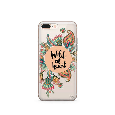 Wild At Heart - Clear Case Cover - Milkyway Cases -  iPhone - Samsung - Clear Cut Silicone Phone Case Cover