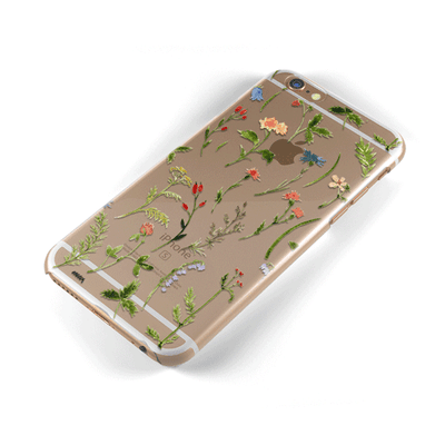 Wildflower - Clear Case Cover Milkyway iPhone Samsung Clear Cute Silicone 8 Plus 7 X Cover